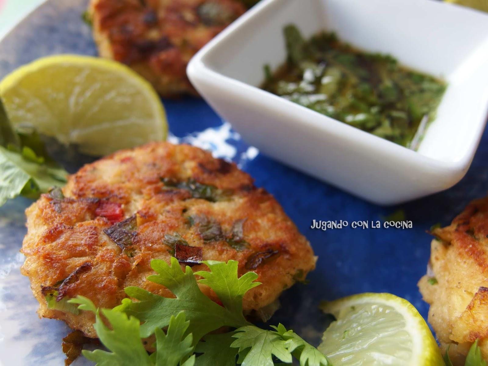Spicy Tuna Fish Cakes Recipe — Dishmaps