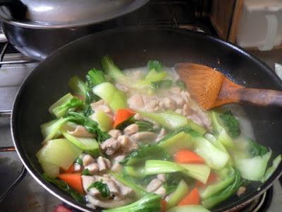 炒め煮の完成