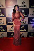 Actress Sophie Choudry in Transparent Red Dress (14).JPG