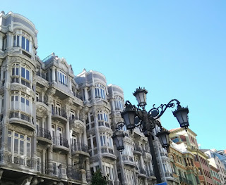 Detalle de edificio de Oviedo