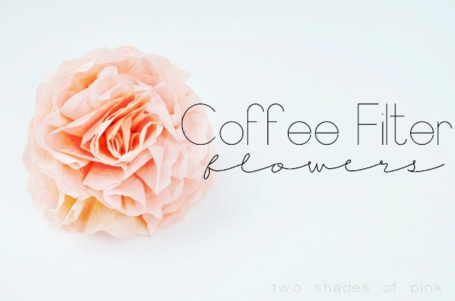 Two Shades Of Pink Coffee Filter Flowers And Video Tutorial