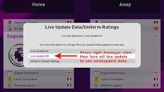 turn off live update