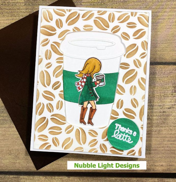 Thanks a latte by Priscilla features Pumpkin Latte by Newton's Nook Designs; #inkypaws, #newtonsnook, #cardmaking, #coffeelovingcardmakers