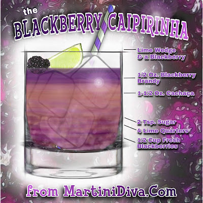 Blackberry Caipirinha Cocktail Recipe with Ingredients and Instructions