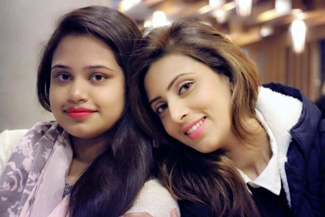 Bidya Sinha Saha Mim With Her Sister Progga Sinha Saha Momi