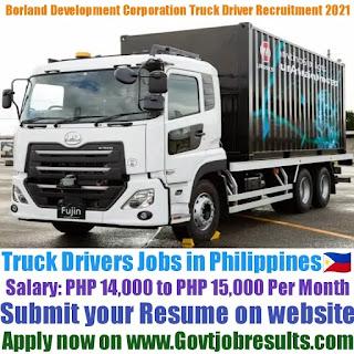 Borland Development Corporation Truck Driver Recruitment 2021-22
