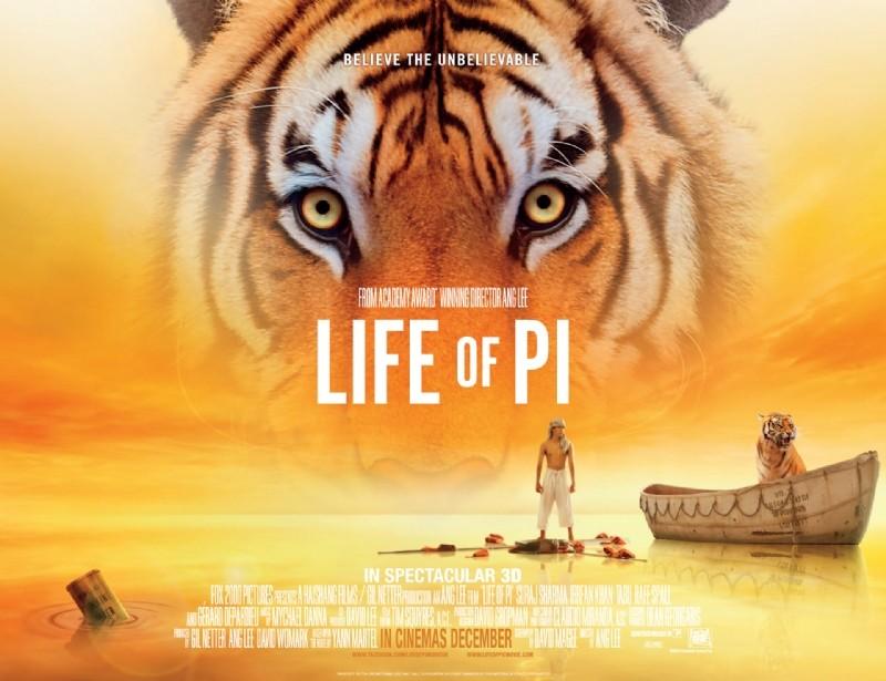 2012 Movie Poster: Life Of Pi (2012) Hindi Movie Watch Full Movie Now