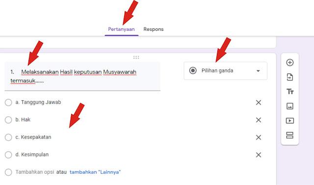 cara membuat soal online lewat google form