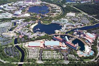 Aerial View of Walt Disney World Swan, Dolphin