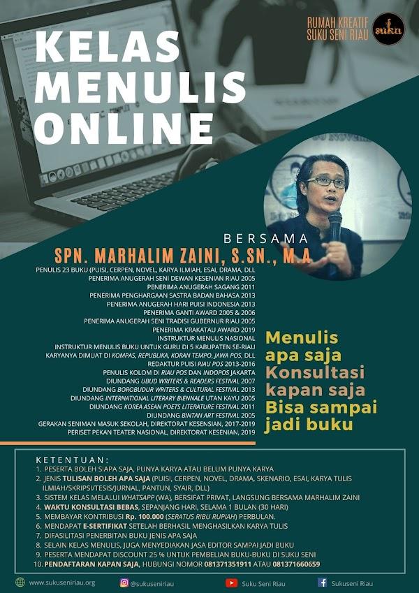 Suku Seni Buka Kelas Menulis Online (KEMON)