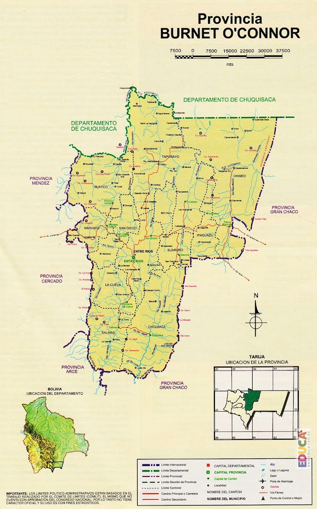 Provincia Francisco O'Connor: departamento de Tarija