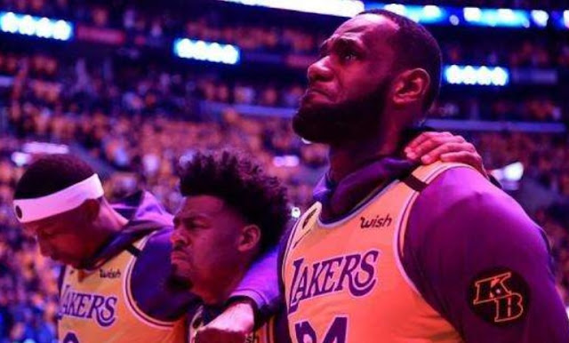 WATCH: King Lebron in tears on pregame tribute to Kobe Bryant