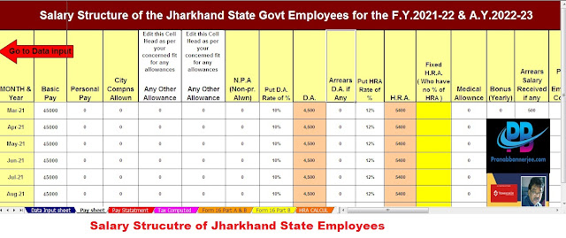 Salary Structure for Jharkhand State Employees