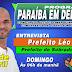 Prefeito Léo de Sobrado/PB será entrevistado no PARAÍBA EM DEBATE da Rádio Rural de Guarabira neste domingo (18)