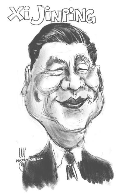 Xi Jinping caricature by Ulf Artmagenta