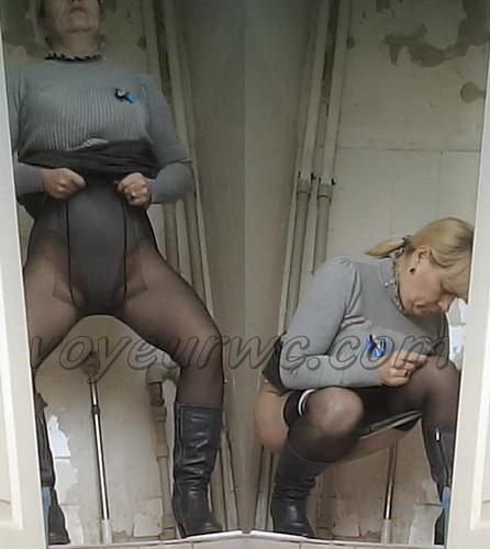 VB Piss 1736-1745 (Real women pee in toilet secret cam video)