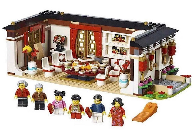 What is inside of Chinese New Year Eve Dinner LEGO Sets