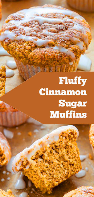 Fluffy Cinnamon Sugar Muffins #fluffy #cinnamon #sugar #muffins #breakfast #snack #dessert