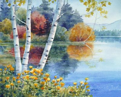 Birch Tree Fall Wallpaper Close Up Zeh Original Art Blog Watercolor And Oil Paintings
