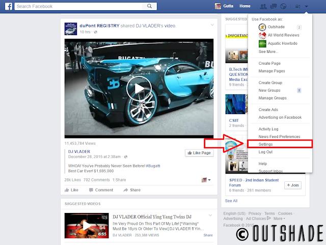 Facebook Settings (Desktop)