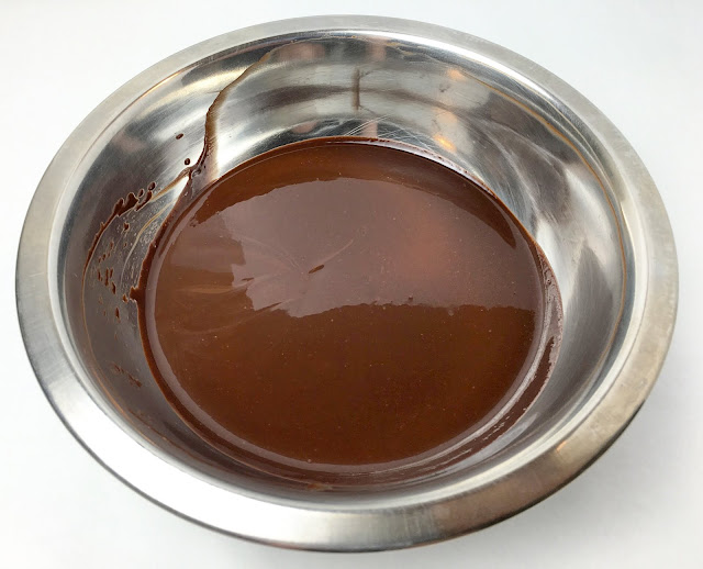 Emulsified Bowl of Melted Butter and Dark Chocolate