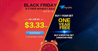 FlyVPN special offer for Black Friday Cyber Monday 2016