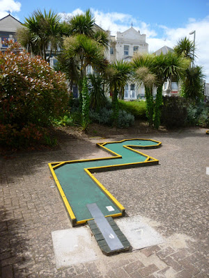 Where in the world would you have found this minigolf course?