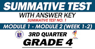 GRADE 4 Summative Test No. 1 (Quarter 3) Modules 1-2