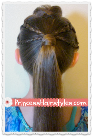 Double Braided Edgy Ponytail Hairstyle Hairstyles For
