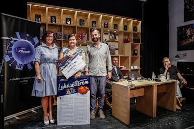 A JCDecaux Álljon meg egy novellára! 2018. pályázatának díjátadója a Magvető Caféban, Samu Tímea, Ecsédi Orsolya, Grecsó Krisztián.