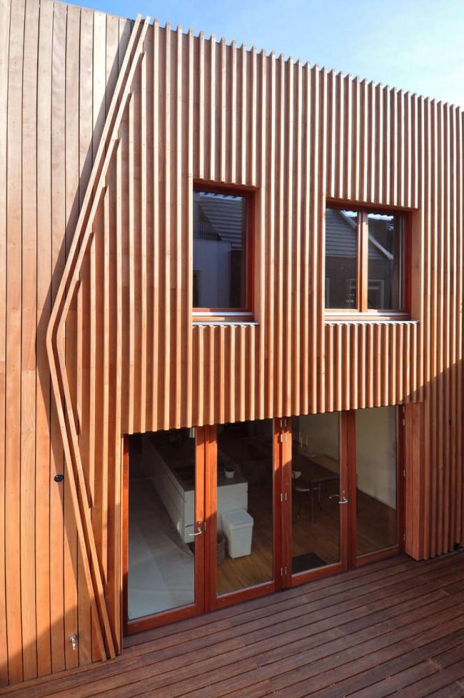Corten Steel And Wood Facade House Leyden Netherlands