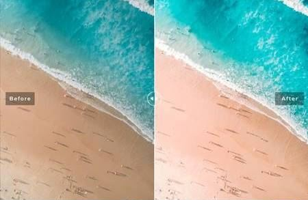 Presets Lightroom Sandy Ground dành cho bãi biển(Mobile/Desktop)