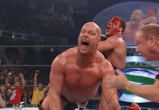 WWE / WWF Summerslam 2001 - Kurt Angle puts Steve Austin in the ankle lock