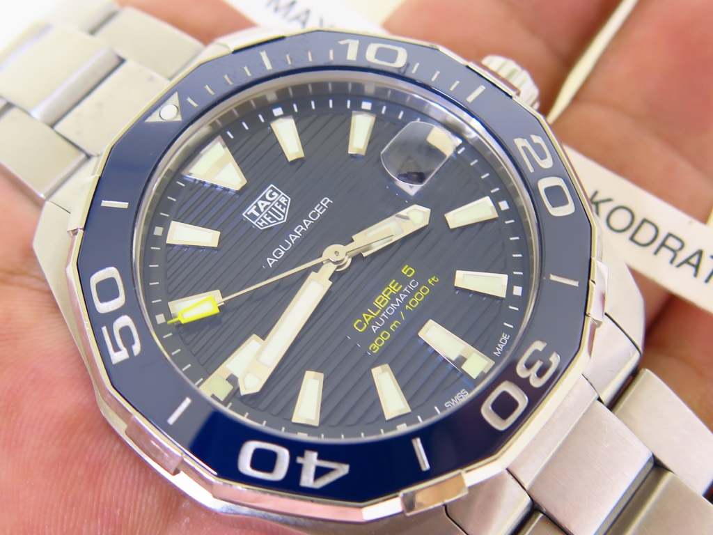 TAG HEUER AQUARACER 300m CERAMIC BEZEL BLUE DIAL - AUTOMATIC CAL 5 - FULLSET BOX PAPERS