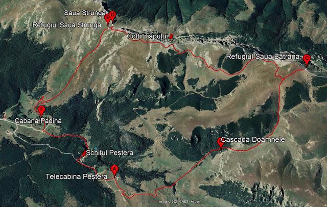 harta traseului