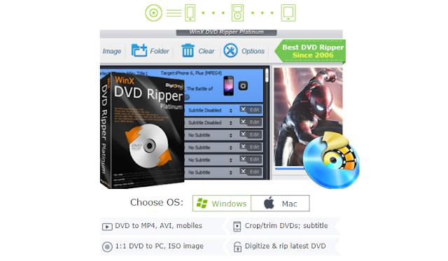 كيفية الحصول علي برنامج Winx DVD Ripper اسرع  برنامج تحويل الفيديوهات من اقراص DVD الي MP4