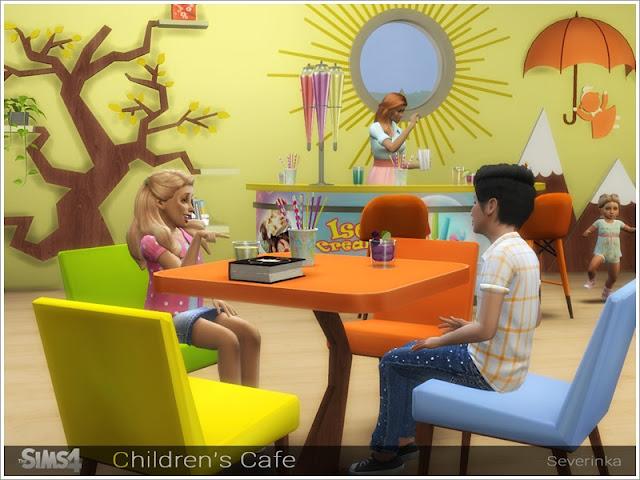 Кафе и рестораны — наборы мебели и декора для Sims 4 со ссылками для скачивания