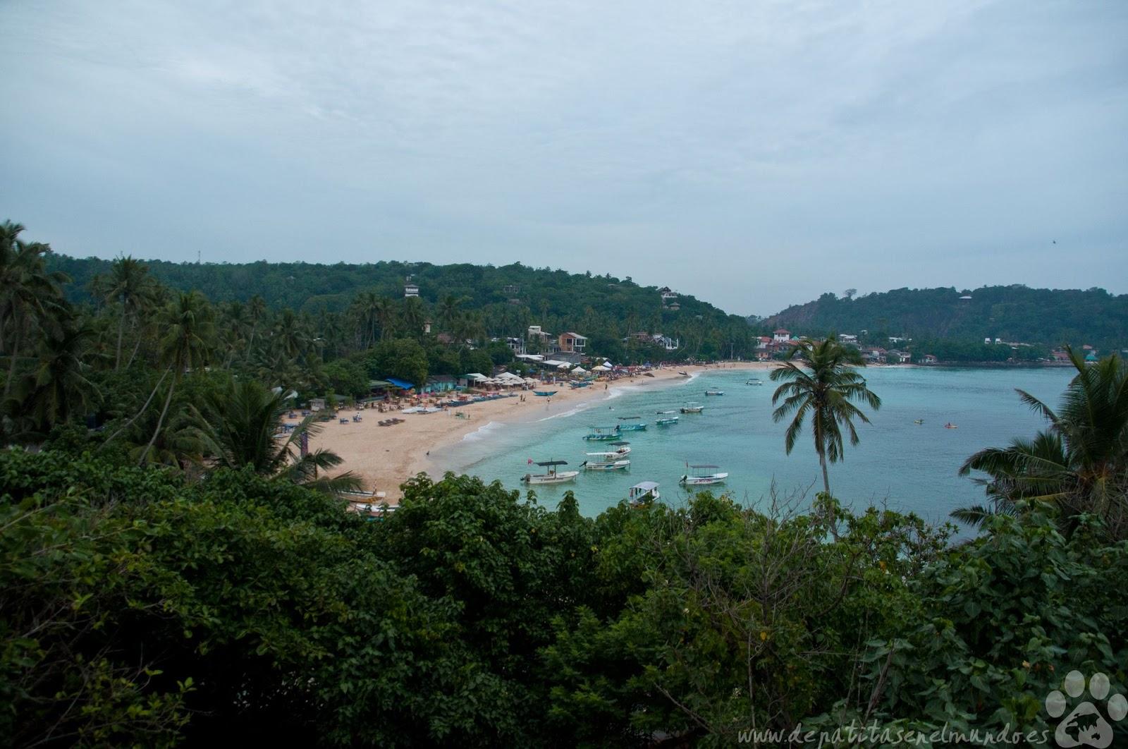 Playa de Unawatuna en Sri Lanka