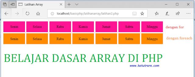 Pemrograman PHP : Array di PHP dan Contoh Kasus