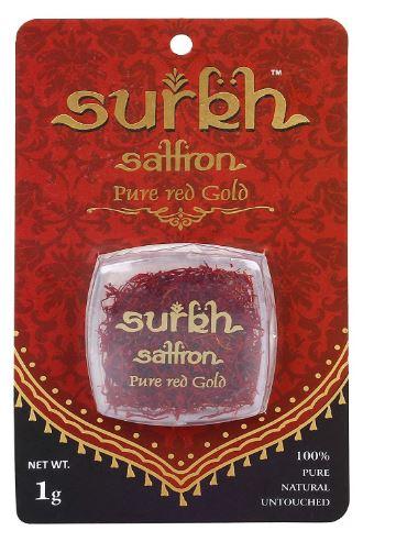 Surkh Saffron - 1 Gram - 100% Pure I Natural I Untouched Premium Grade 1 Saffron / Kesar