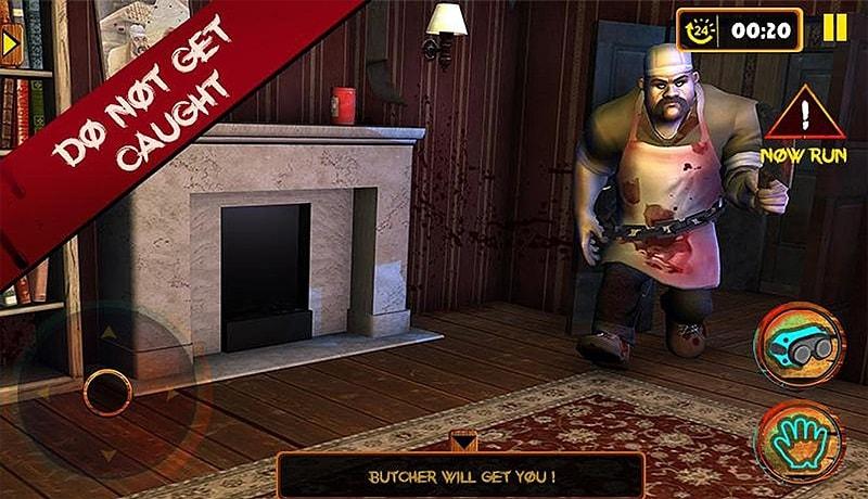 تحميل لعبة الجزار المخيفة scary butcher 3d للاندرويد