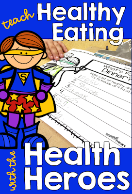 Healthy eating unit for  first, second or third grade students that includes lessons, printables, assessment task and a rubric.