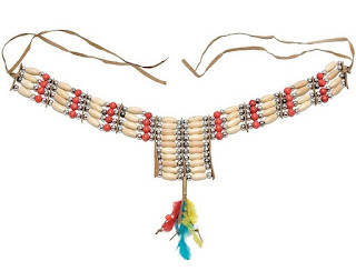 Graphic shows native american garb