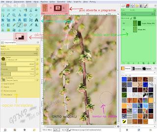 GIMP w jednym oknie