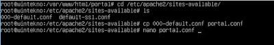 Konfigurasi Apache Portal Site