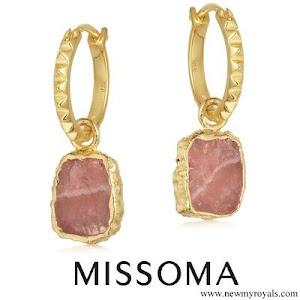 Kate Middleton wore Missoma gold mini pyramid charm hoops earrings