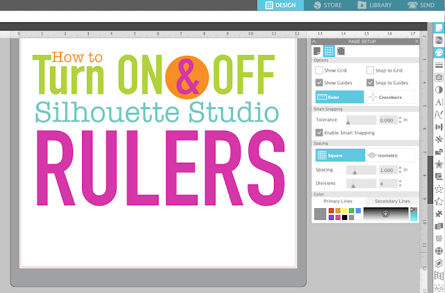 silhouette studio, page setup panel, silhouette cameo tutorials, Rulers, Silhouette software