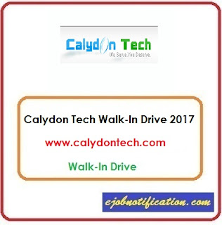 Calydon Tech Solutions Walk-In Software Developer jobs in Chennai 26th-31st Oct'2017