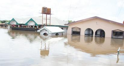 See How Flood Submerged Community In Ondo, Destroys Property