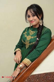 Actress Ashvini Pictures in Green Salwar Kameez Madha Gaja Raja Audio Launch  0029.JPG